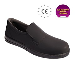 static dissipative slip resistant safety shoes hs 094bk